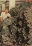 "Wehrmacht uniform factory - Stacking the finished uniforms. photographs Dr. Paul Wolff, used in the book ""Uniformen und Soldaten"" by Curt Ehrlich - published in 1942. Featured is the uniform factory of Peek & Cloppenburg."