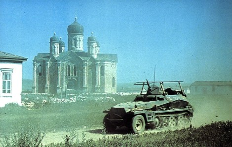 Sd.Kfz. 250-3 on the Eastern Front.