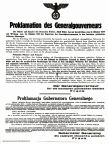 Official proclamation of the General-Government in Poland by Germany, October 1939.