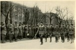 Germany Awakes. Group #32. Picture #24: Free Corps marches in front of Adolf Hitler after the ordination of the War Dead Memorial.