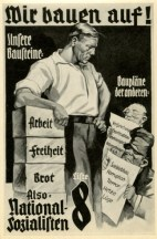 Germany Awakes. Group #32. Picture #97: Election poster of the NSDAP.