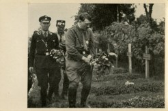 Germany Awakes. Group #32. Picture #181: The Führer visits the hero veterans' cemetery in Hohenstein, Eastern Prussia.