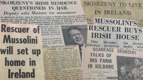 Otto Skorzeny's presence in Ireland caused much intrigue in the Irish and English press.