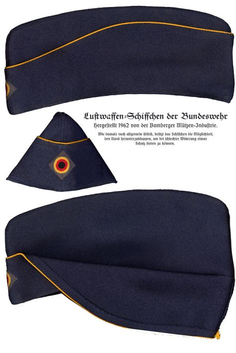 Luftwaffe Schiffchen with golden yellow piping (Bundeswehr).