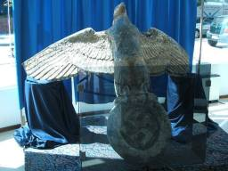 Bronze Eagle of the Admiral Graf Spree after being pulled from the ocean in 2006.
