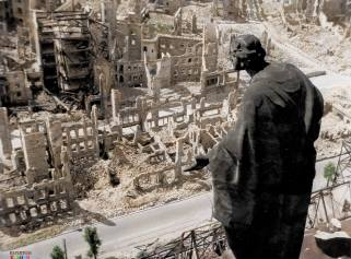 Beginning on the night of February 13, 1945, more than 1,200 heavy bombers dropped nearly 4,000 tons of high-explosive and incendiary bombs on the city in four successive raids. An estimated 25,000 people were killed in the bombings and the firestorm that raged afterward. More than 75,000 dwellings were destroyed, along with unique monuments of Baroque architecture in the historic city center. The scale of the death and destruction, coming so late in the war, along with significant questions about the legitimacy of the targets destroyed have led to years of debate about whether the attack was justified.