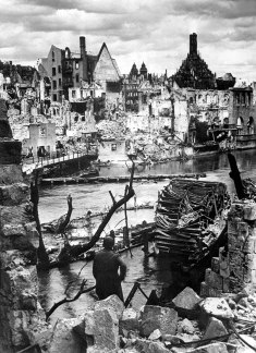 The bombed-out city of Nuremberg, 1945.