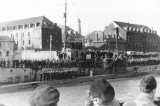 Hardegen's submarine U123, pictured above, was the most celebrated in the country, with its captain personally oversaw the sinking of 27 Allied vessels.