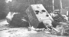 Knocked out photos of the Panzer VIII - Maus