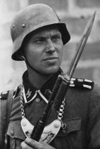 A Feldgendarmerie of the Waffen SS.