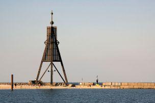 Kugelbake, symbol of Cuxhaven.
