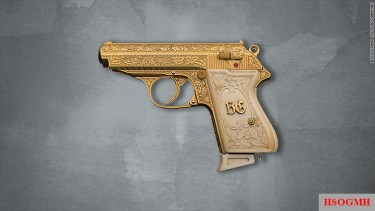 Gold-plated Walther PPK semiautomatic pistol was once owned by notorious Nazi leader Hermann Göring up for bid.