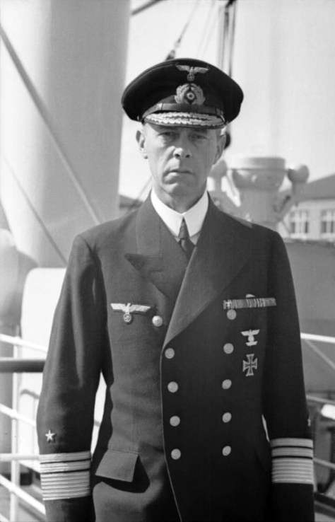 German Vice Admiral Günther Lütjens during World War II