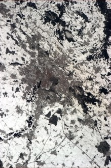 Hanover, seen from the International Space Station.