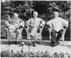 Potsdam Conference in 1945 with Winston Churchill, Harry S. Truman and Joseph Stalin.