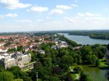 Maschsee seen from the new city hall.