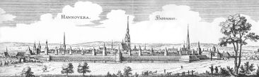 Illustration of Hanover by Matthäus Merian, 1654.
