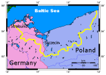 Area within Germany and Poland.