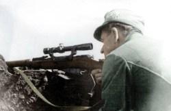 German sniper with Soviet Mosin Nagant.