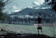 Eva Braun at the Berghof near Berchtesgaden.