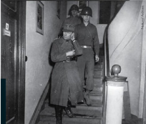 Edwin Graf von Rothkirch und Trach in American custody on 6 March 1945.
