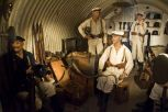 Display of First World War German equipment and uniforms in one of the shelters in the Aachen Battery.