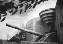 One of the battery's 38 cm guns during World War II.