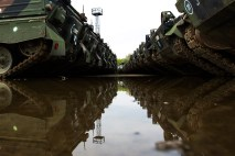 Decommissioned German-made Marder armoured fighting vehicles are seen the Koch Battle Tank Dismantling firm.