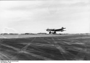 A He 177 taking off for a sortie, 1944.