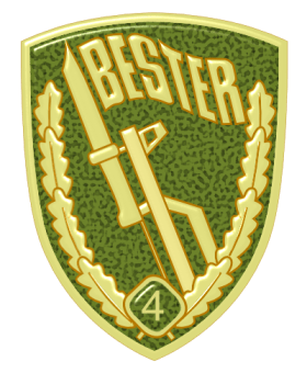 Bestenabzeichen (enamel breast badge) (1986–1990).
