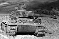 A captured Tiger I tank fitted with the 8.8 cm KwK 36.