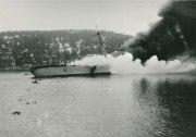 Blücher sinking in Drøbak Sound.