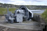 One of the 28 cm guns at Oscarsborg Fortress.
