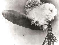 Hindenburg on fire.