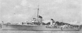Z1 Leberecht Maass at anchor.