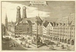 Marienplatz, Munich about 1650.