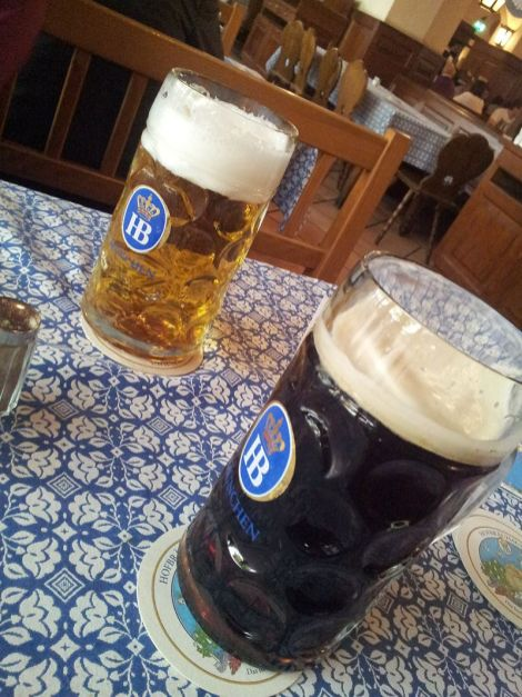Munich Hofbräuhaus beer.