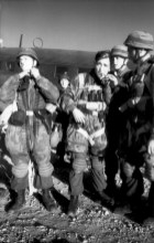 German paratroopers prepare to be flown to the Greek island of Leros in 1943.