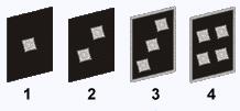 Gruppenführer (1), Zugführer (2), Kompanieführer (3), Bataillonsführer (4).