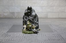 Close up of Kollwitz's statue in the Neue Wache on the Unter Den Linden in Berlin.