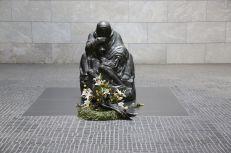Close up of Kollwitz's statue in the Neue Wache on the Unter Den Linden in Berlin.