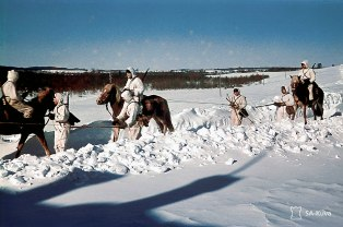 Finnish Cavalry in Karelia, spring of 1942.