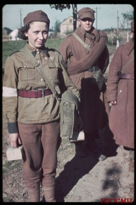 Polish soldiers and a Red Cross nurse captured by the Germans during the Polish invasion by Germany.