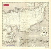 The Channel (Der Kanal), D.66 Kriegsmarine nautical chart, 1943.
