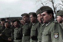 ROA troops with shoulder patches visible, Belgium or France, 1944.