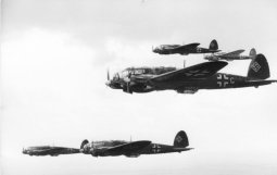 A formation of He 111 H, circa 1940.