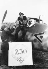 Günther Rall after his 250th aerial victory.
