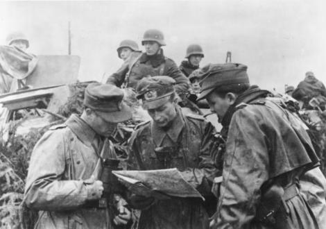 German field commanders plan the advance.