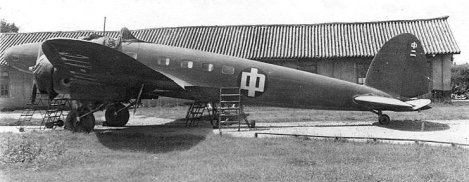 A Chinese He 111A re-engined with Wright Cyclone radial engines.