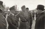 Hitler, Marshal Mannerheim (Finnish Army chief) and Finnish President Ryti meet, Imatra — June 1942.